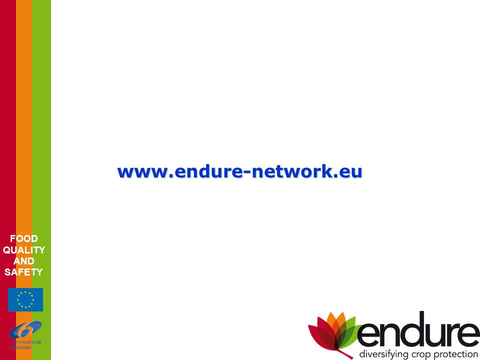 FOOD QUALITY AND SAFETY www.endure-network.eu