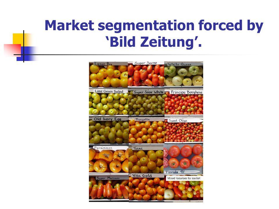 Market segmentation forced by Bild Zeitung.