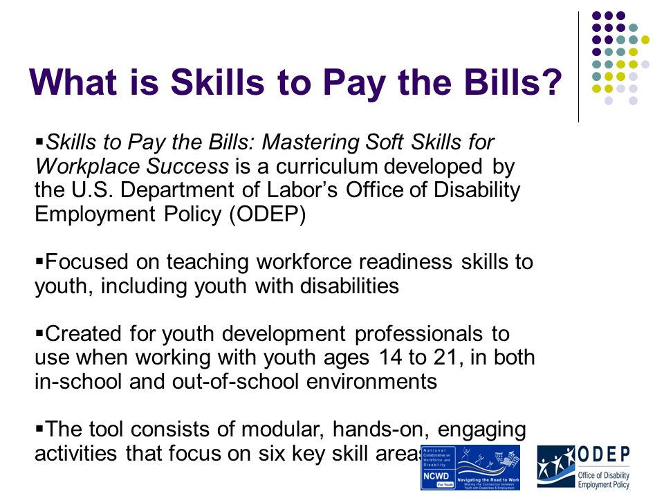 What is Skills to Pay the Bills.