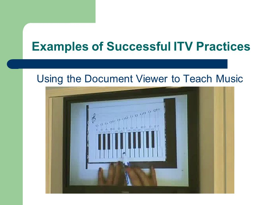 Examples of Successful ITV Practices Using the Document Viewer to Teach Music