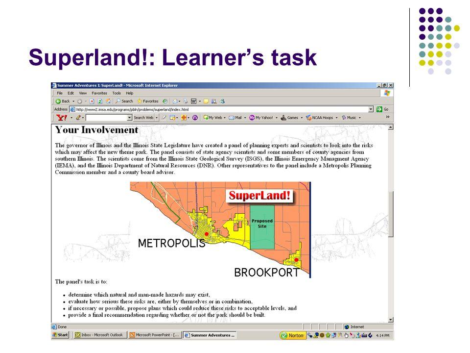 Superland!: Learners task