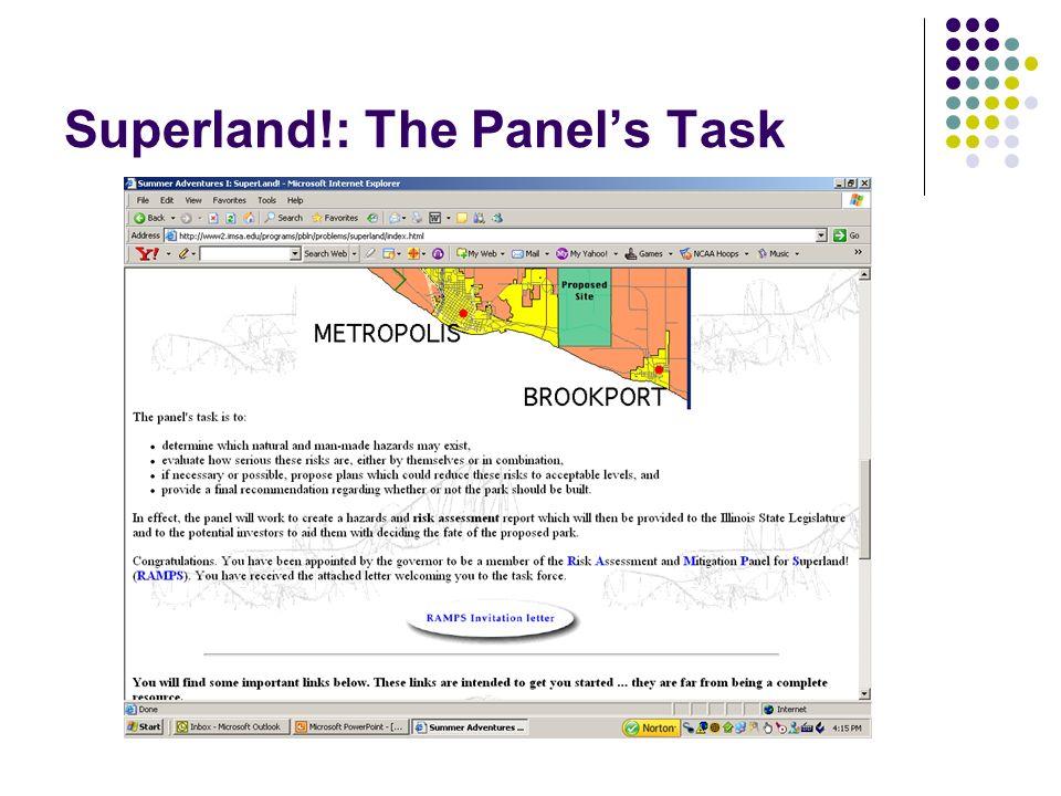 Superland!: The Panels Task