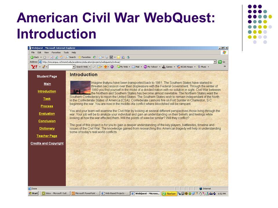 American Civil War WebQuest: Introduction