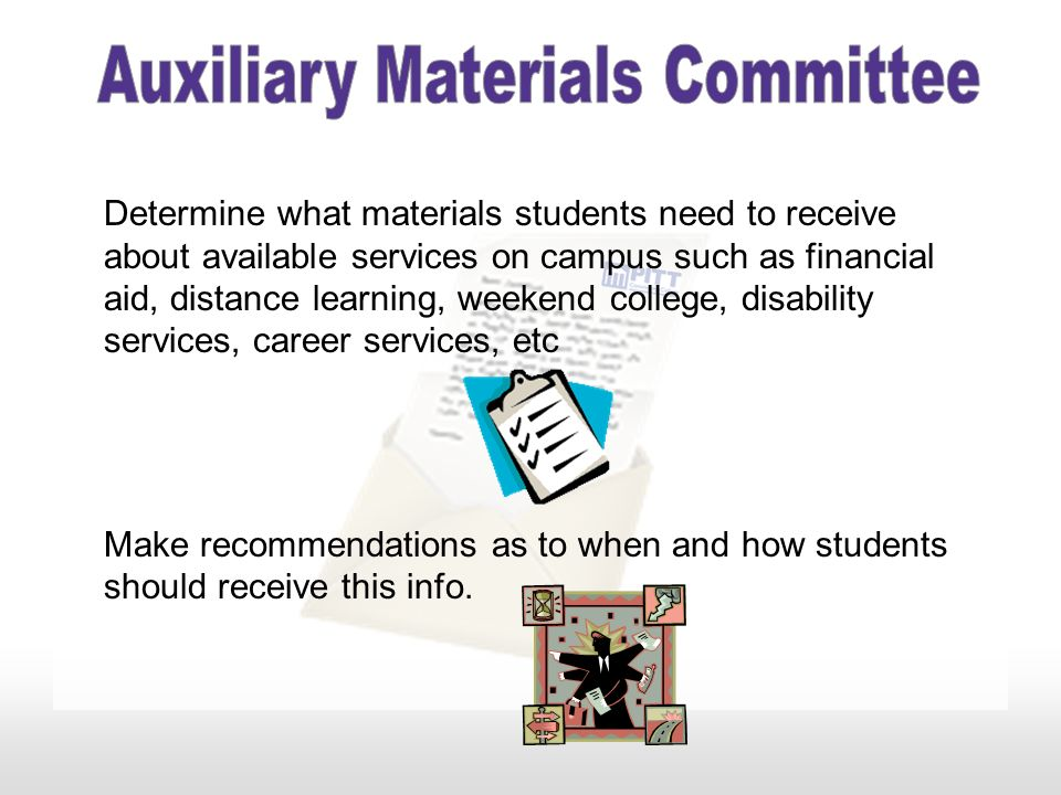 Make recommendations regarding the initial communication with students who have been accepted or readmitted
