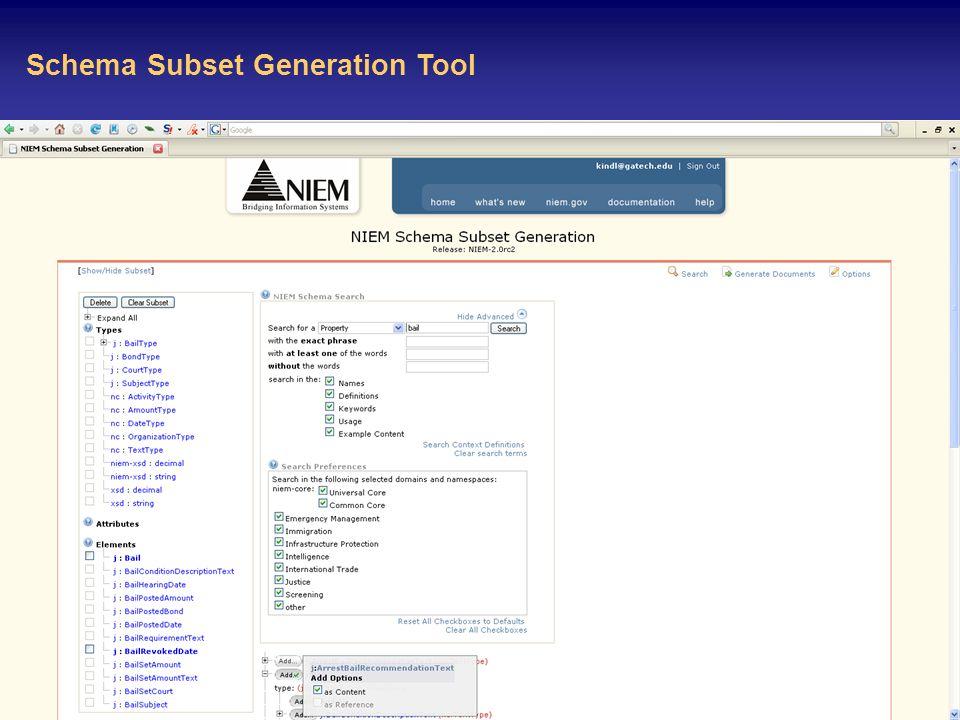 29 Schema Subset Generation Tool