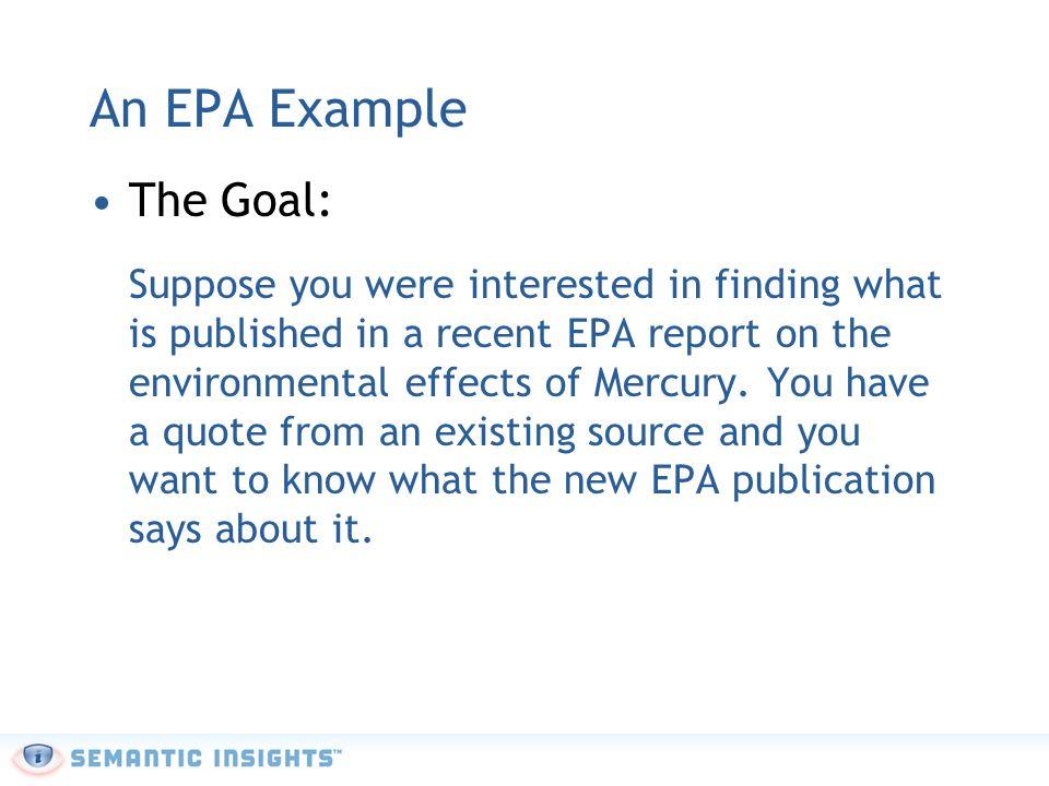 EPA Example: Information Source Information Source: U.S.