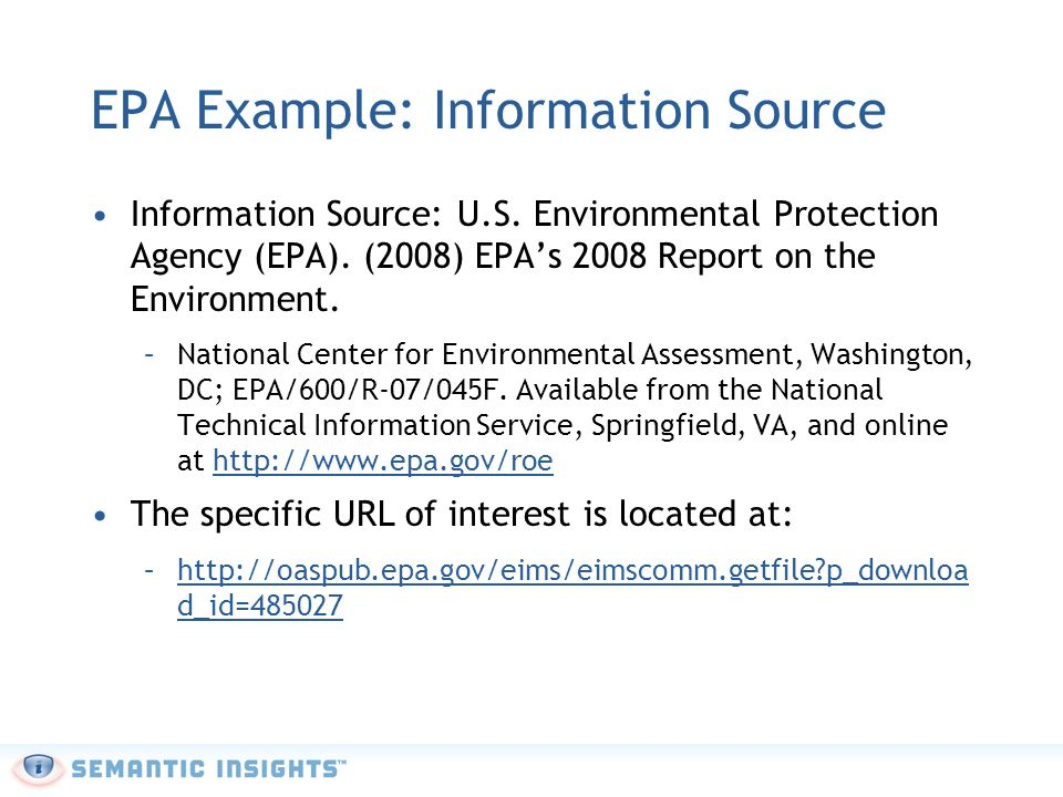 EPA Example: Investigation Your Investigation statement might look something like:The effects of Mercury on human health are diverse and depend on the forms of mercury encountered.