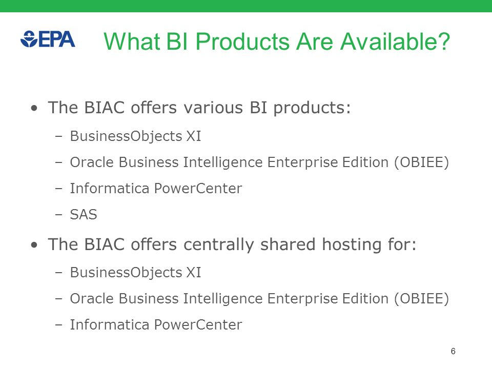 7 What BI Services are Available.