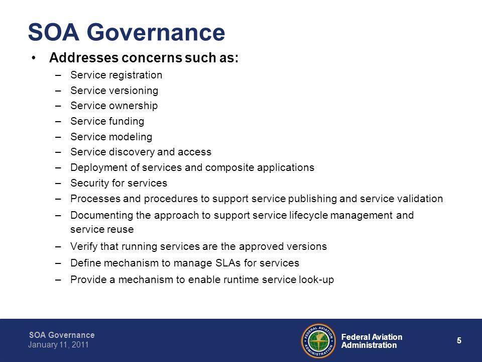 16 Federal Aviation Administration SOA Governance January 11, 2011 Why Governance.