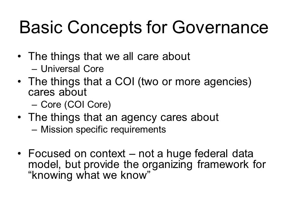 Deliverables: A Proposal for Universal Core –Four Context Areas with Description to be published in the DRM PERSON ….