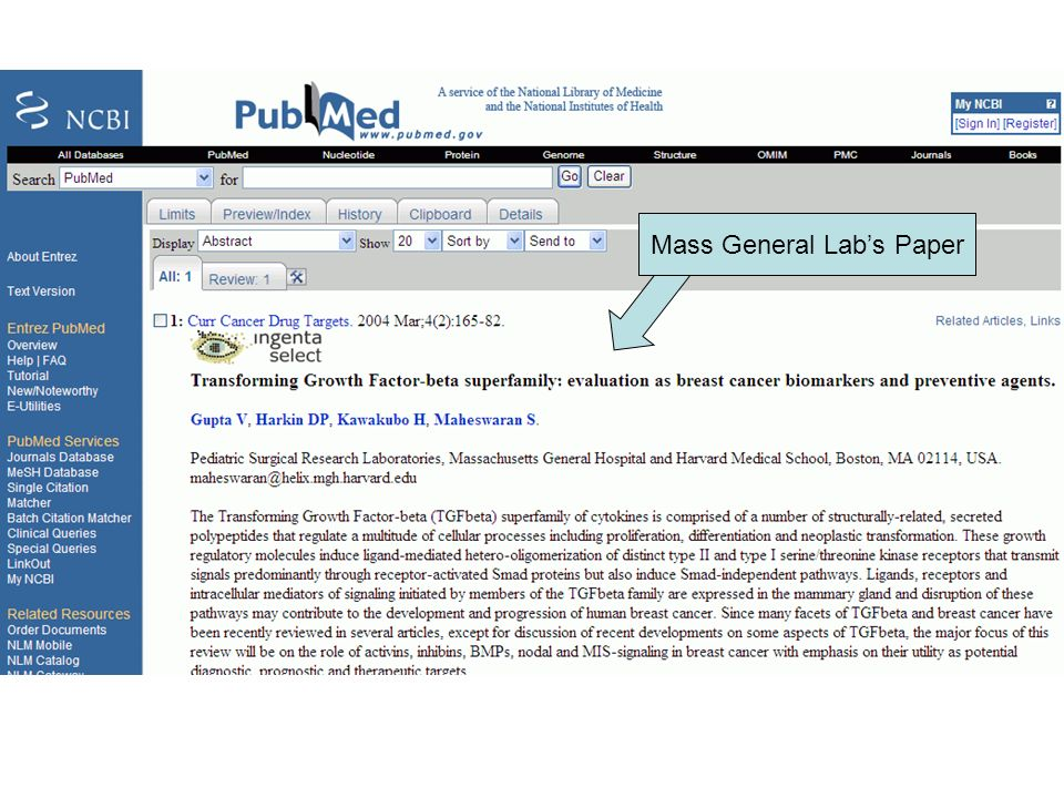 Mass General Labs Paper