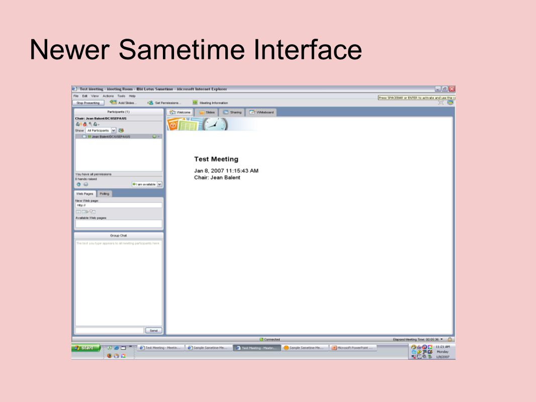 Newer Sametime Interface