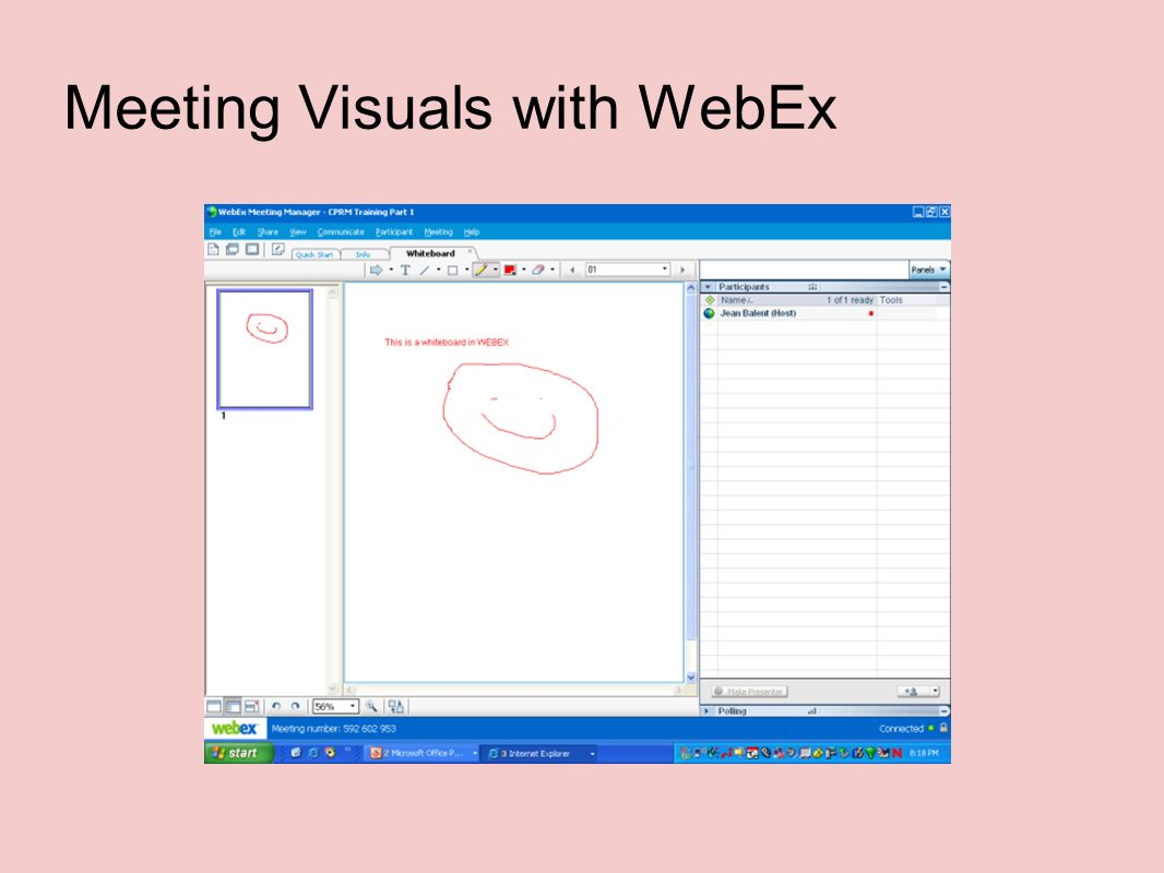 Meeting Visuals with WebEx