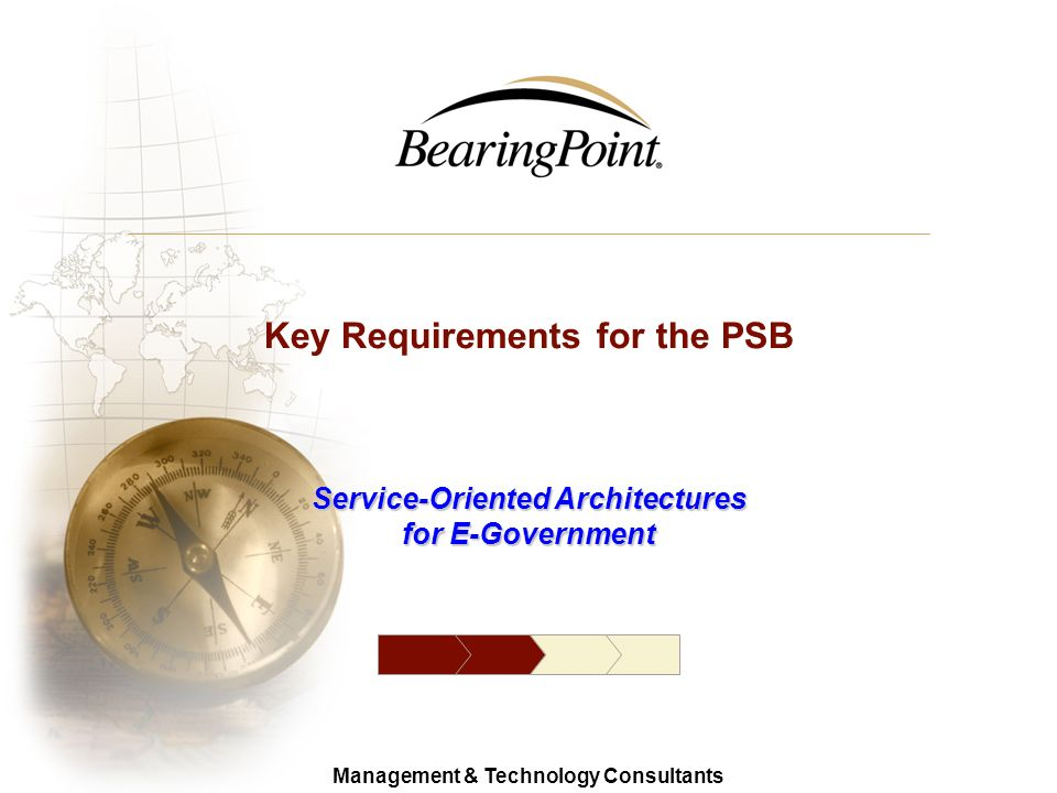 10 Management & Technology Consultants © 2006 BearingPoint Reach Interoperability Guidelines (RIGs) A set of documents intended to ensure interoperabi