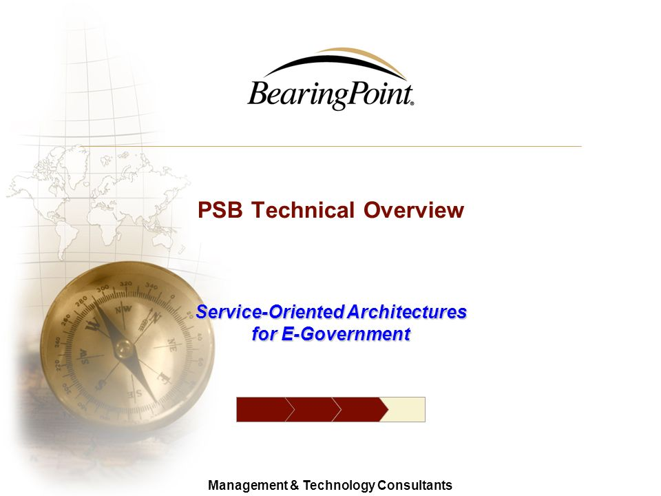 14 Management & Technology Consultants © 2006 BearingPoint Identity Management for e-Government CS AA CS – Credential Service AA – Agency Application