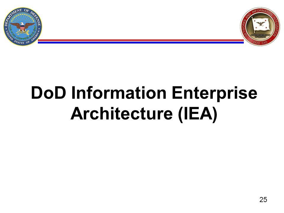 DoD Information Enterprise Architecture (IEA) 25