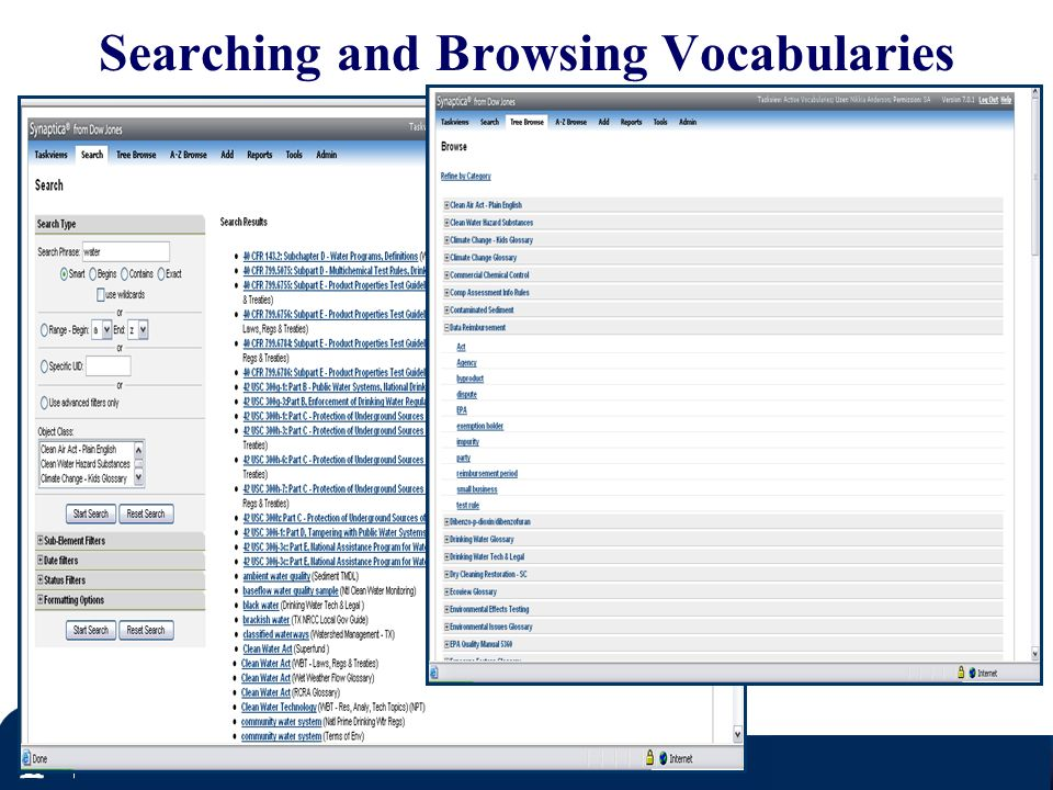 Searching and Browsing Vocabularies