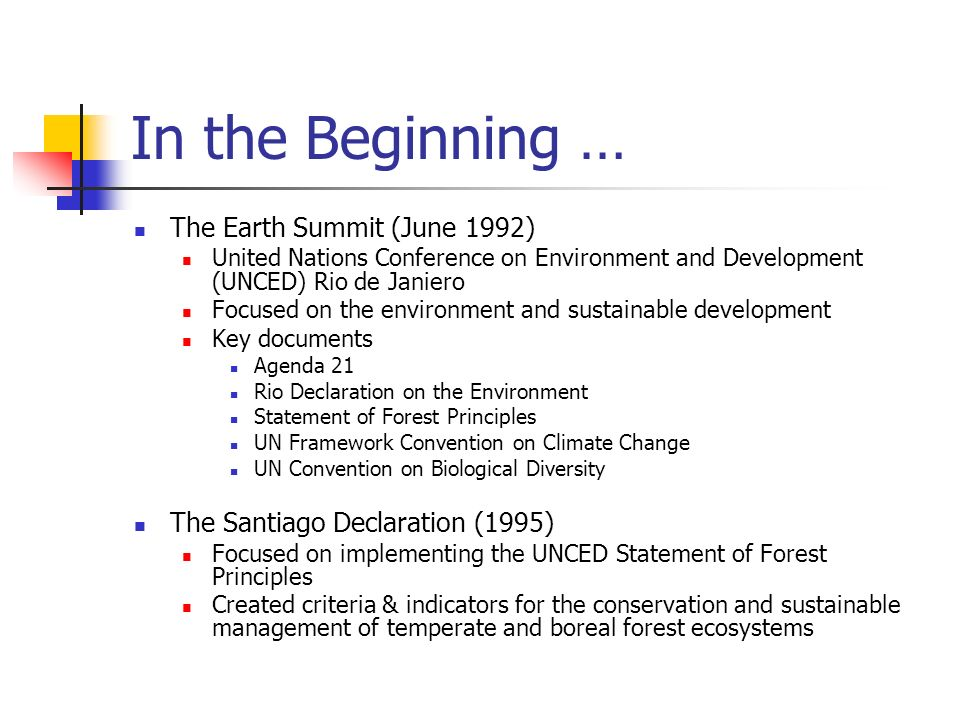 Domestic History Independent activities on indicators throughout the 1990s within EPA and Depts of Commerce, Interior, and Agriculture Work in OSTP-CENR in mid-1990s, led to Recommendations for a National Environmental Monitoring Framework (March 1997) Seminal workshop in Sept 1996 attended by 160 stakeholders Vice President Gore challenged federal agencies to work together with the scientific community and other interested parties to create an environmental report card Dr.