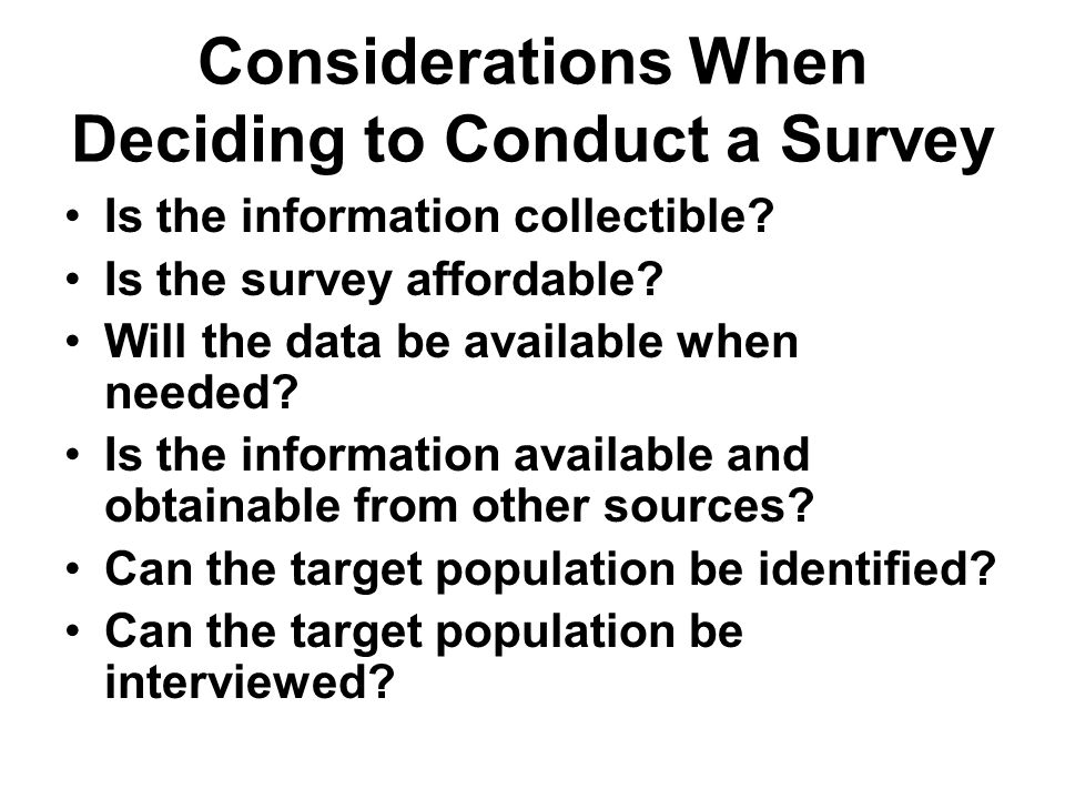 Conducting Interviews Locating the sampled units –Households –Establishments Gaining cooperation from sampled persons Asking questions Recording and editing responses Ensuring respondent Privacy and Confidentiality