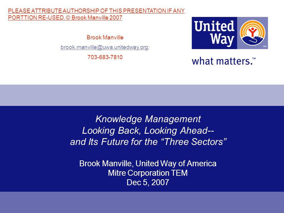 Mitre TEM Presentation 12-5-07 © Brook Manville 2007 12 Discontinuity.