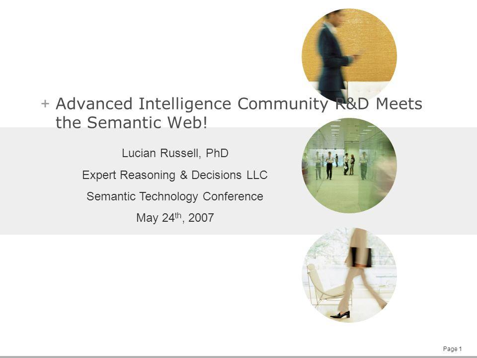 Page 1 + Advanced Intelligence Community R&D Meets the Semantic Web.