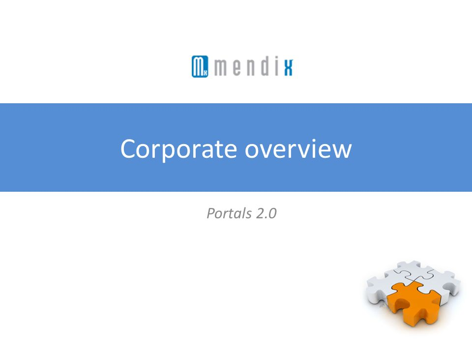 Corporate overview Portals 2.0