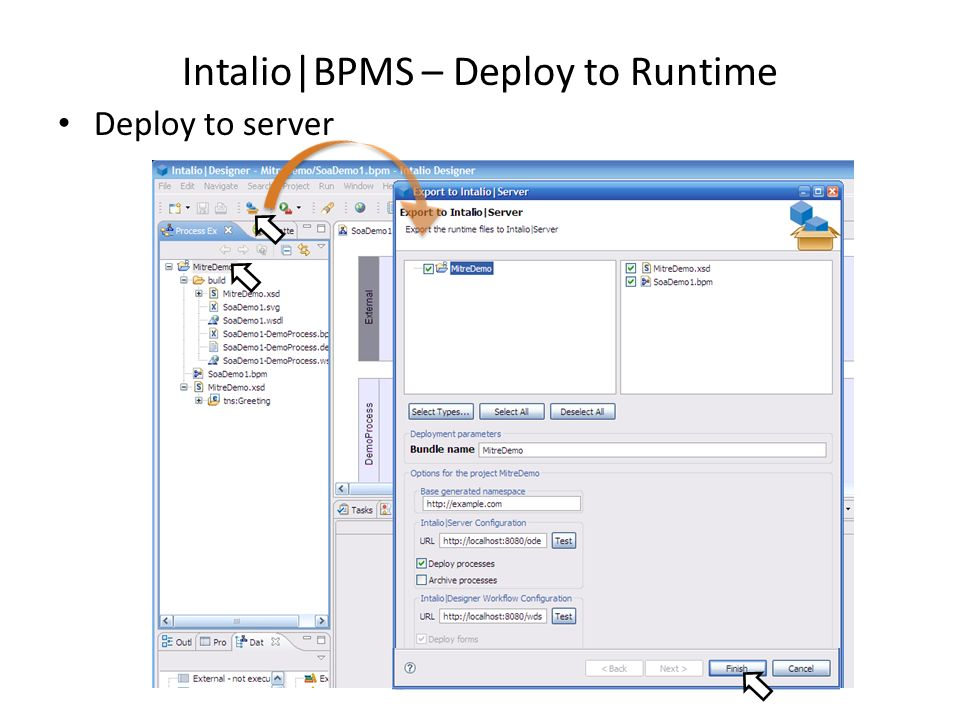 Intalio|BPMS – Deploy to Runtime Deploy to server