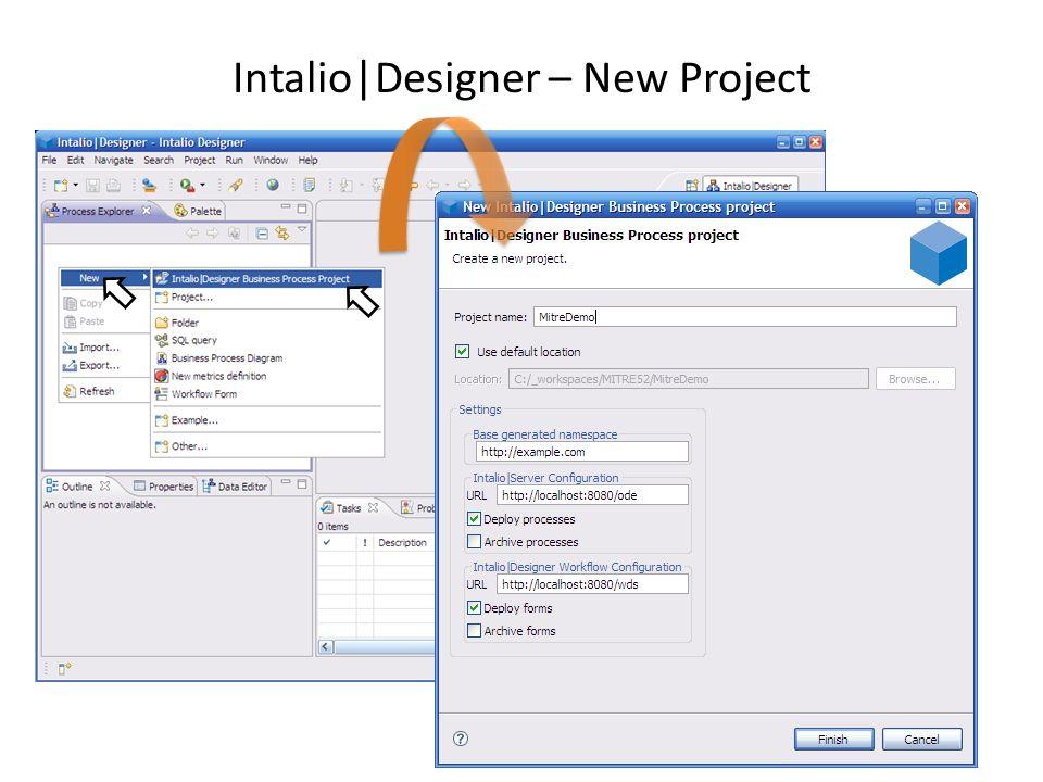 Intalio BPMS – Human Centric Workflow UI http://localhost:8080/ui-fw – Username: examples\msmith – Password: password