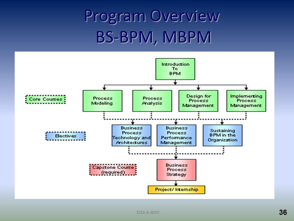 36 Program Overview BS-BPM, MBPM SOA E-GOV