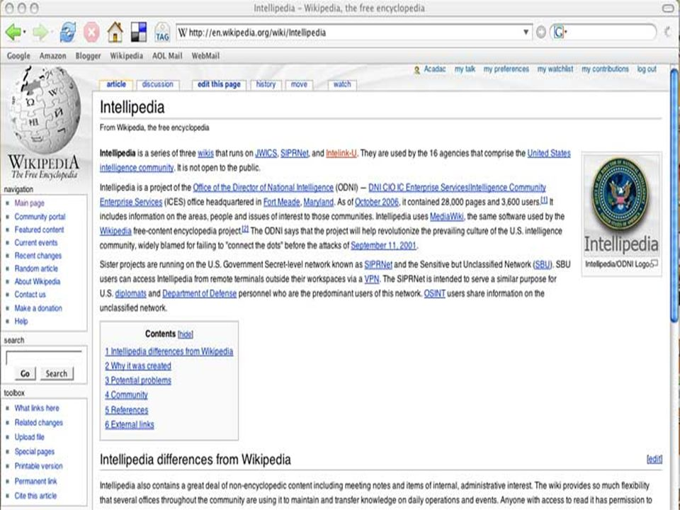 28 February 200737 Intellipedia