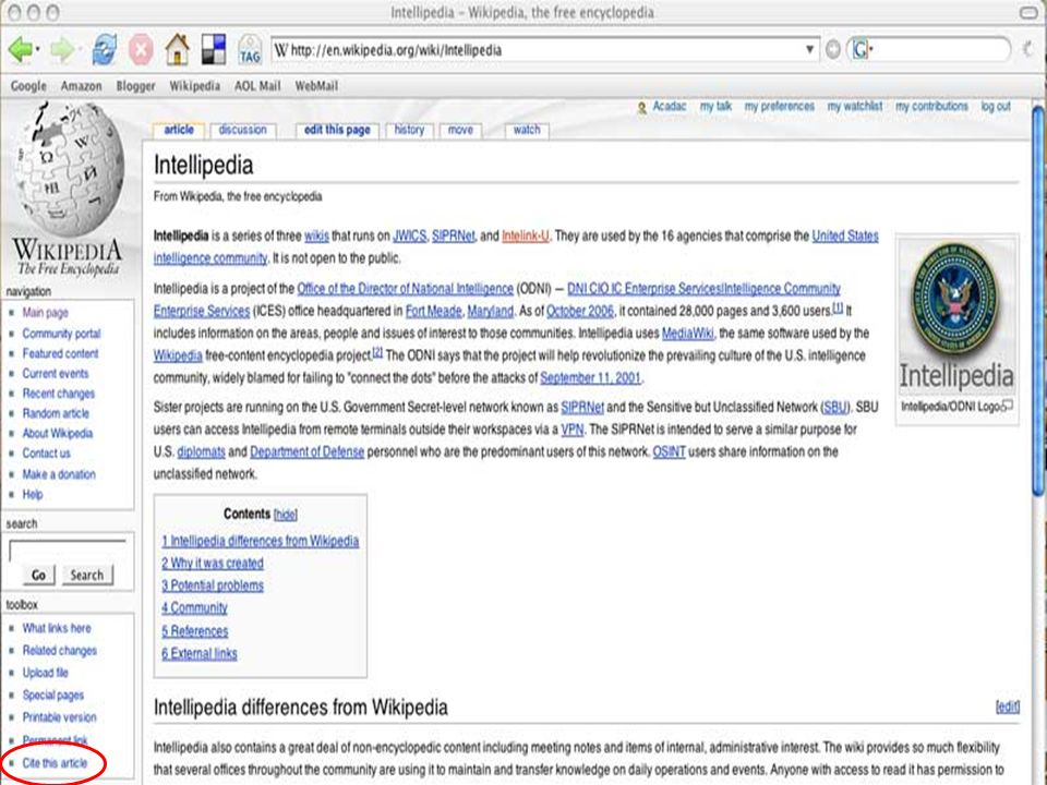 28 February 200739 Intellipedia
