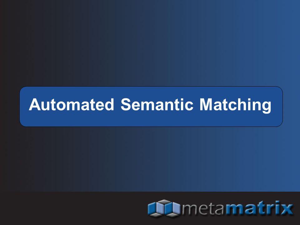 Automated Semantic Matching