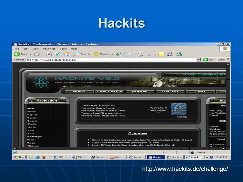 Hackits http://www.hackits.de/challenge/