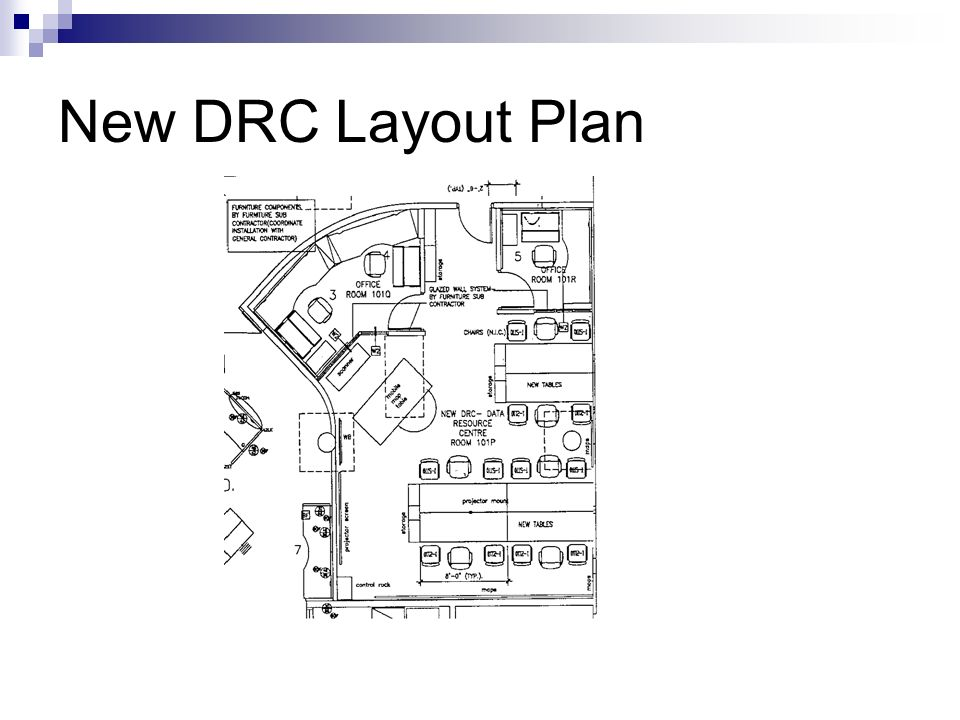 New DRC Layout Plan
