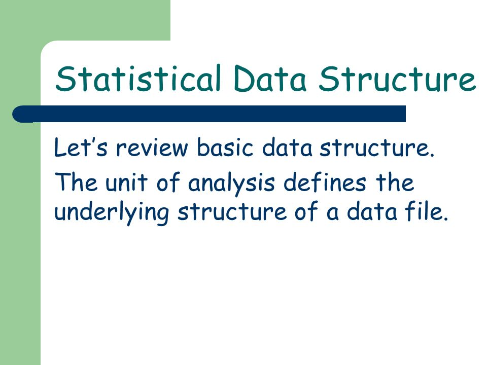 Lets review basic data structure.