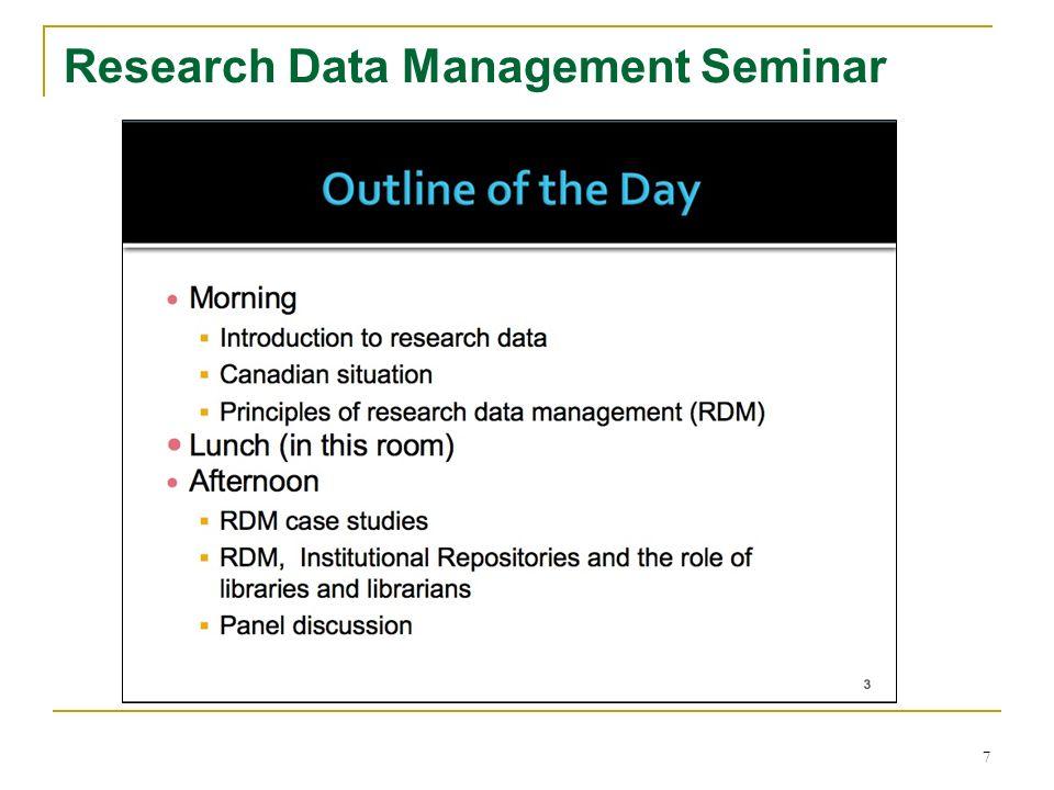 Research Data Management Seminar 7