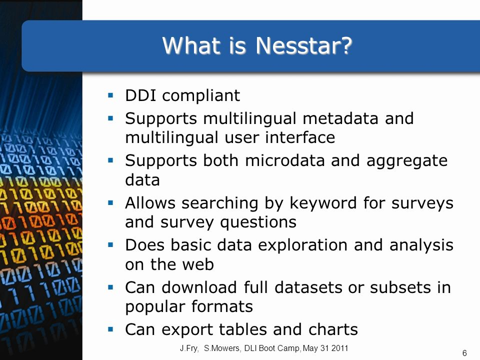 What is Nesstar. What is Nesstar.