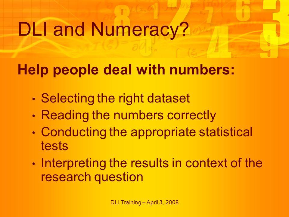 DLI Training – April 3, 2008 Quiz Templates – True or False