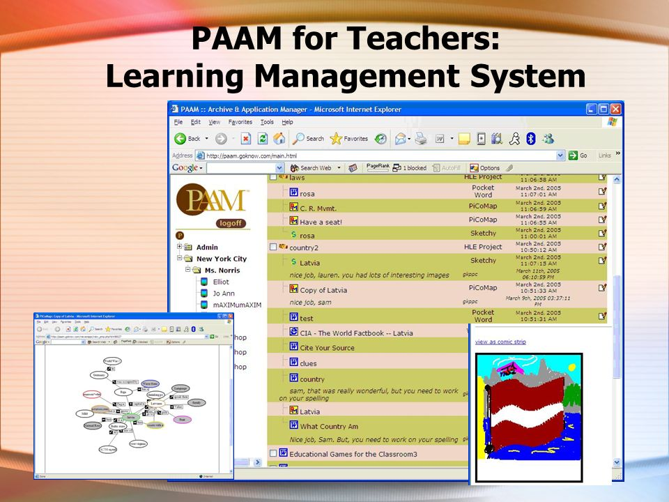 PAAM for Teachers: Learning Management System