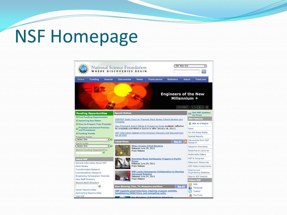 NSF Homepage