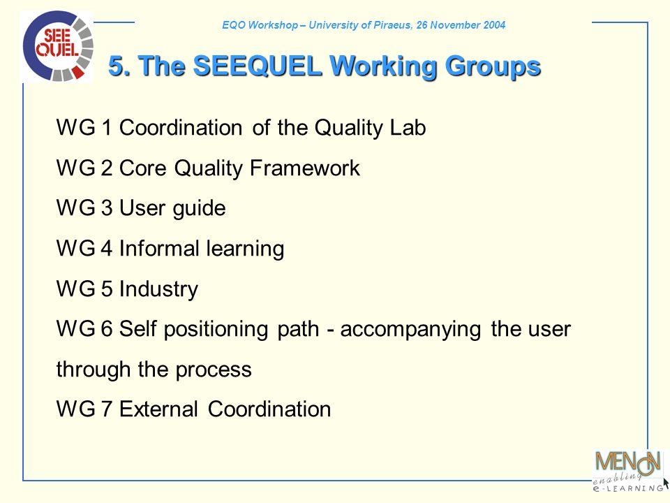 EQO Workshop – University of Piraeus, 26 November 2004 5.