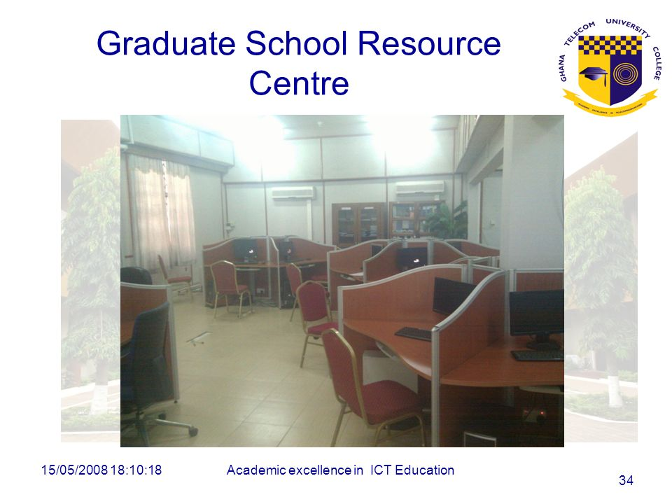 Graduate School Resource Centre 15/05/2008 18:10:18Academic excellence in ICT Education 34