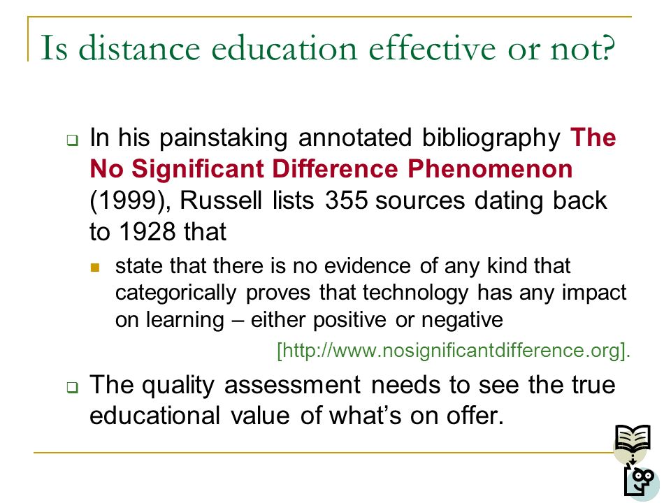 Is distance education effective or not.