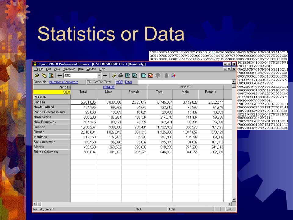 Statistics or Data