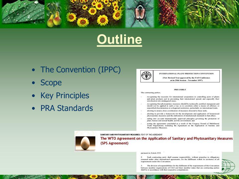 Outline The Convention (IPPC) Scope Key Principles PRA Standards