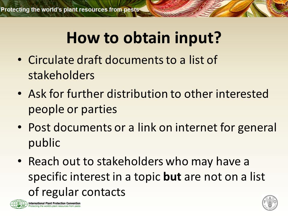 How to obtain input.