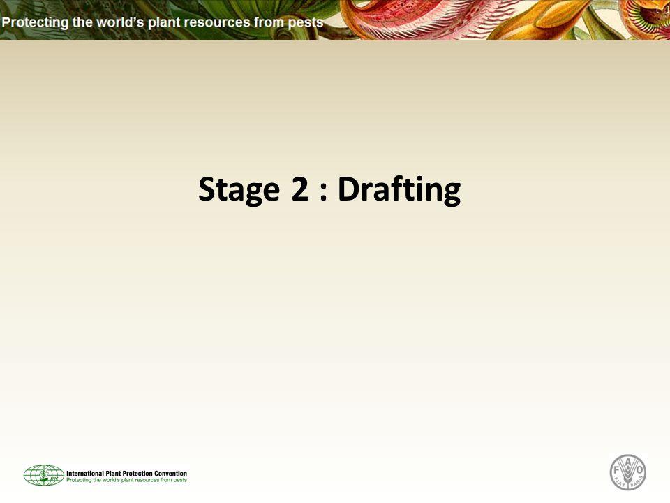 Stage 2 : Drafting