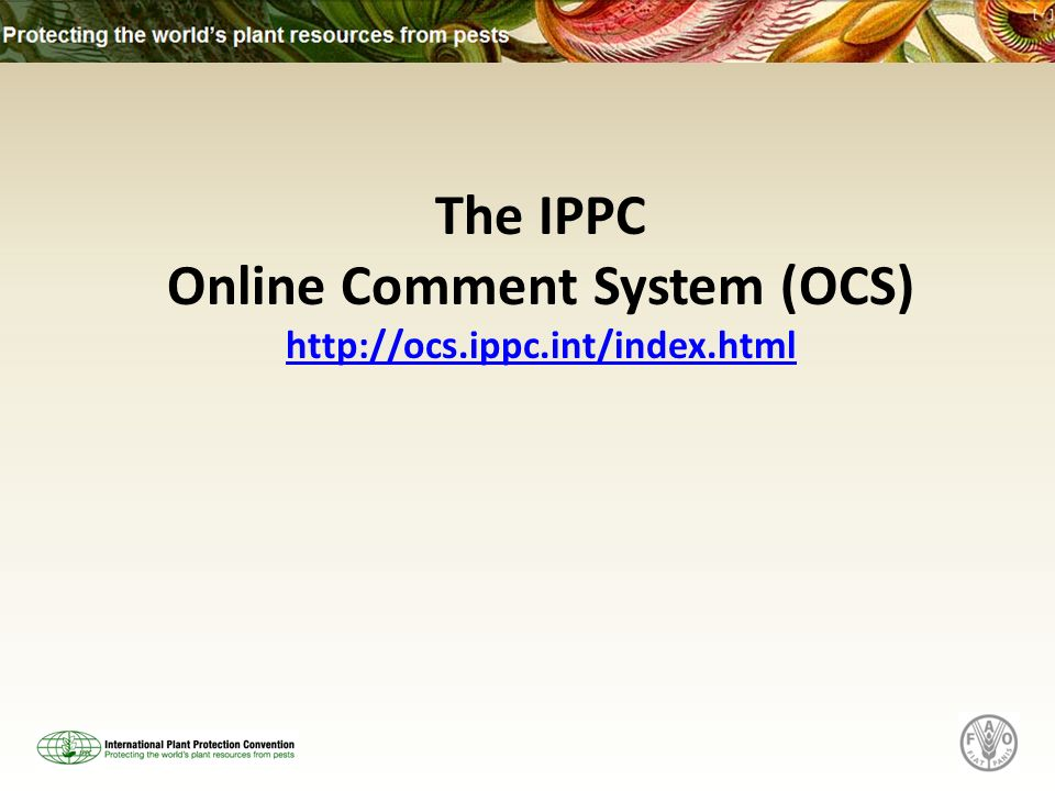 The IPPC Online Comment System (OCS)