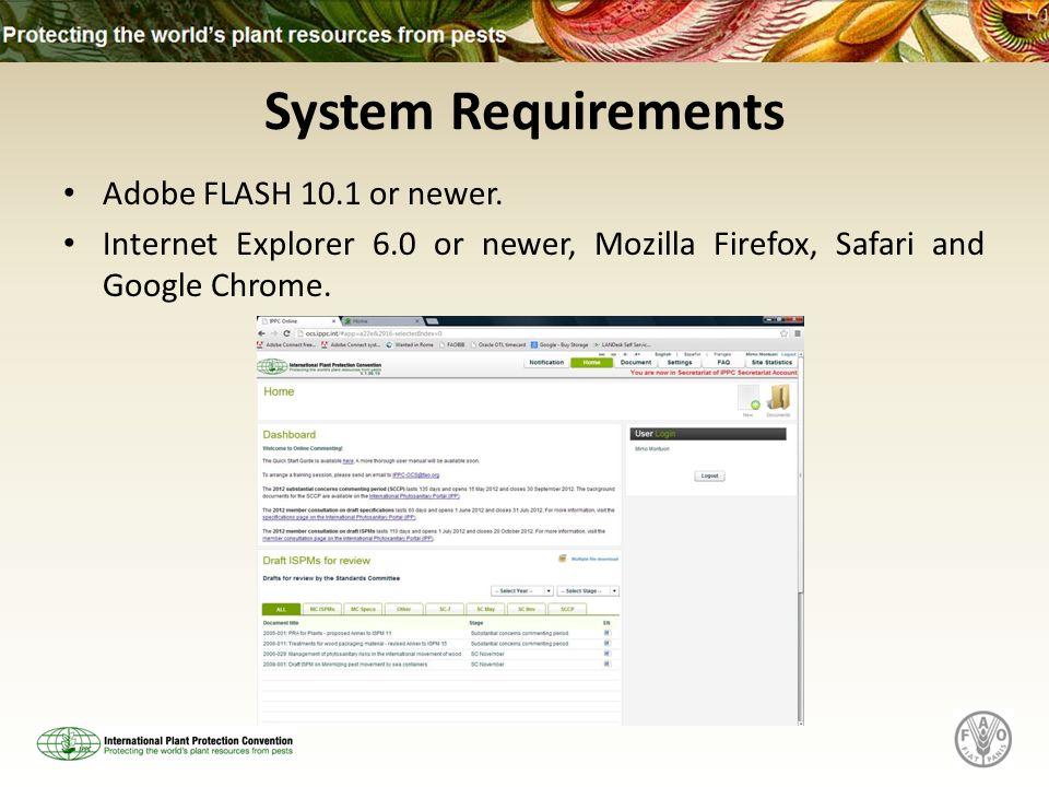 System Requirements Adobe FLASH 10.1 or newer.