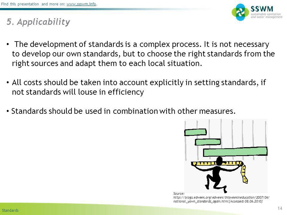 Standards Find this presentation and more on: www.ssswm.info.www.ssswm.info 14 5.